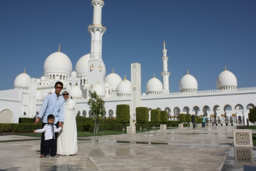 At Sheikh Zayed Mosque
