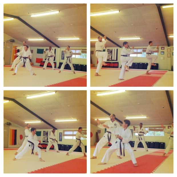 Kegiatan homeschooling: berlatih karate