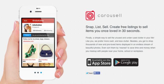Carousel Apps yang membantu untuk jual-beli barang seken