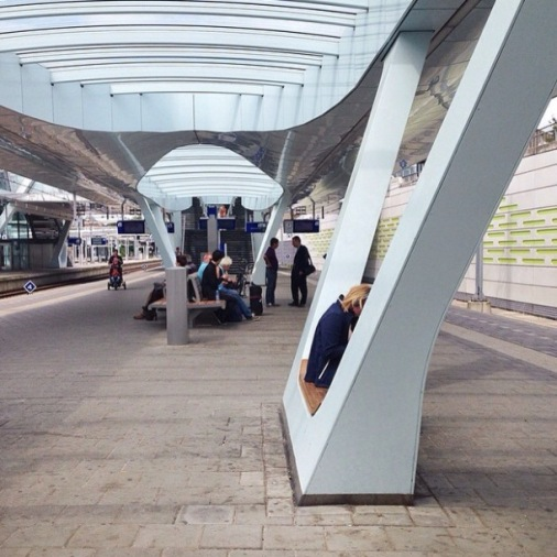 foto 10 platform 10 stasiun Arnhem