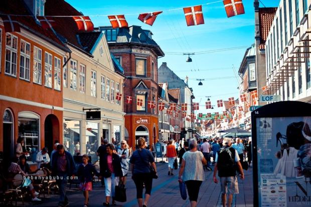 Pusat kotanya Helsingör, Denmark.