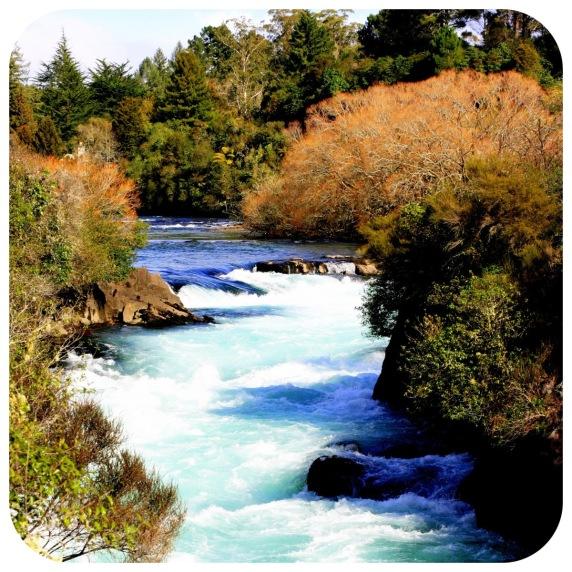 Huka Falls di daerah Taupo