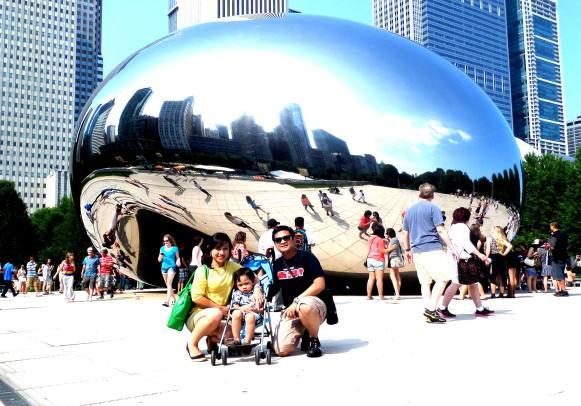 Saat di Chicago, Illinois: Ketika berkumpul, biasanya kami manfaatkan juga untuk traveling ke negara bagian lain.