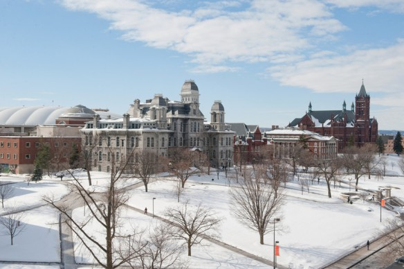 Syracuse University during winter (foto taken from SU fb)