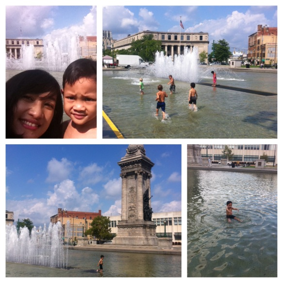 9. Enjoying downtown in summer