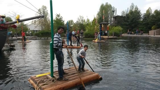 Adriaan dan Papa di Playmobil Funpark Nürnberg