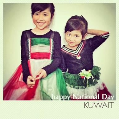 Arwen dan Leia merayakan Hari Nasional Kuwait