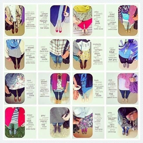 Awal postingan saya di Instagram adalah seputar fashion: #ditut365fs