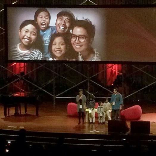 Ketika sharing di TEDx Jakarta 2014 lalu