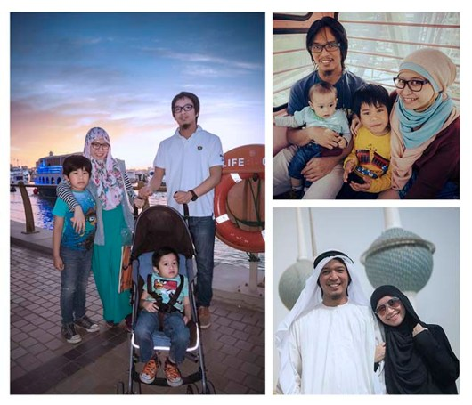 Our family from years to years in Kuwait.  (photo courtesy Eman Sagala)