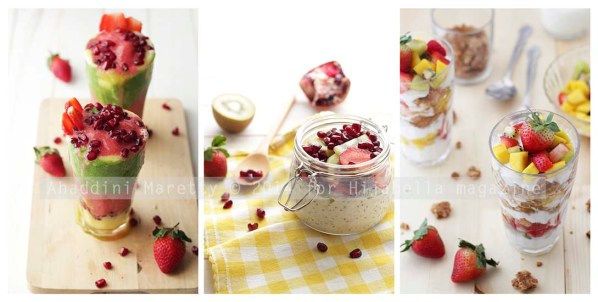 Greensmoothies Parfait, Overnight Fruit Oats, Yogurt Fruit Parfait