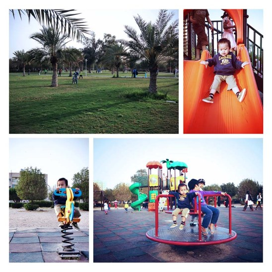 Salmiya Garden, public garden near our apartment.