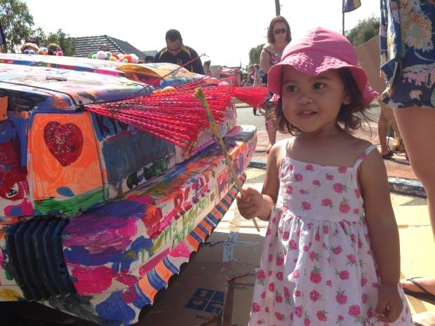 Di Beaufort Street Festival 2013 orang-orang boleh ngecat 1 mobil ini