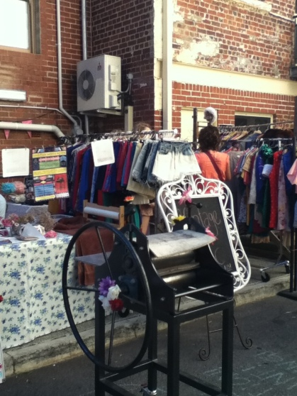 Perth events laneway vintage market as part of the fringe world 2013