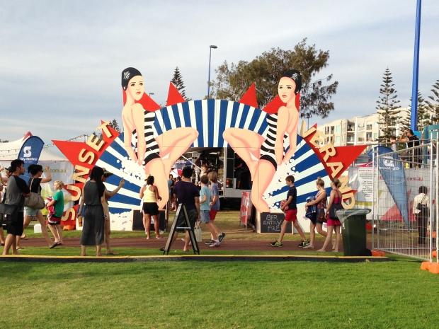 Perth Events Sunset Verandah di Scarborough beach sebagai part of Summerset Arts Festival