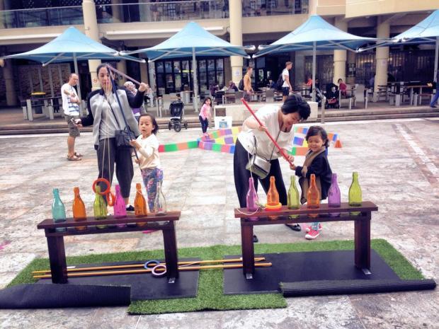 School holiday di city ada instalasi berbagai games dan aktivitas untuk anak2