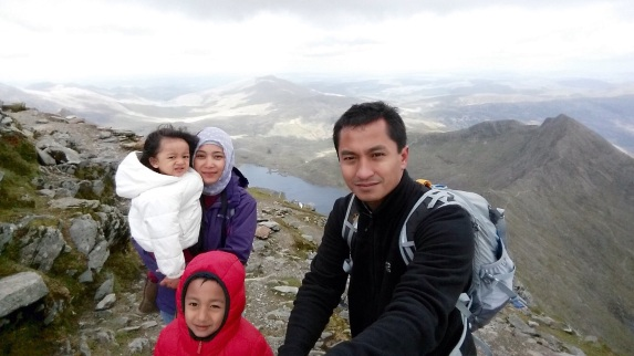 Di atas pegunungan Llanberies, Snowdonia National Park, Wales. Salah satu puncak terindah di UK