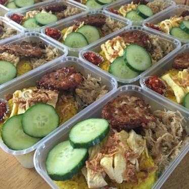 Nasi Kuning pesanan Catering