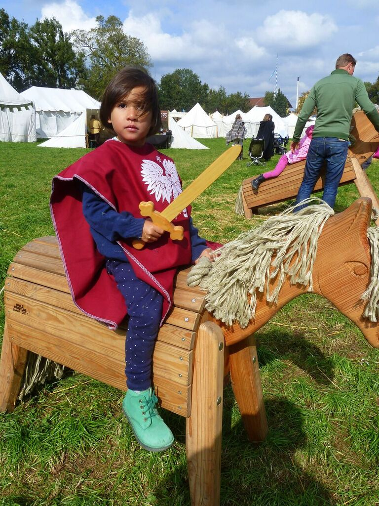Medea as a knight on Medieval Knight Festival di Bavaria