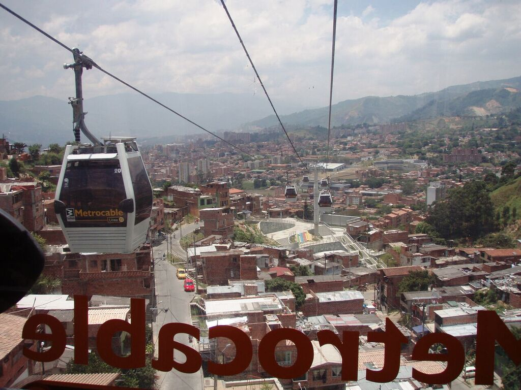 Metrocable di kota Medellin - Kolombia