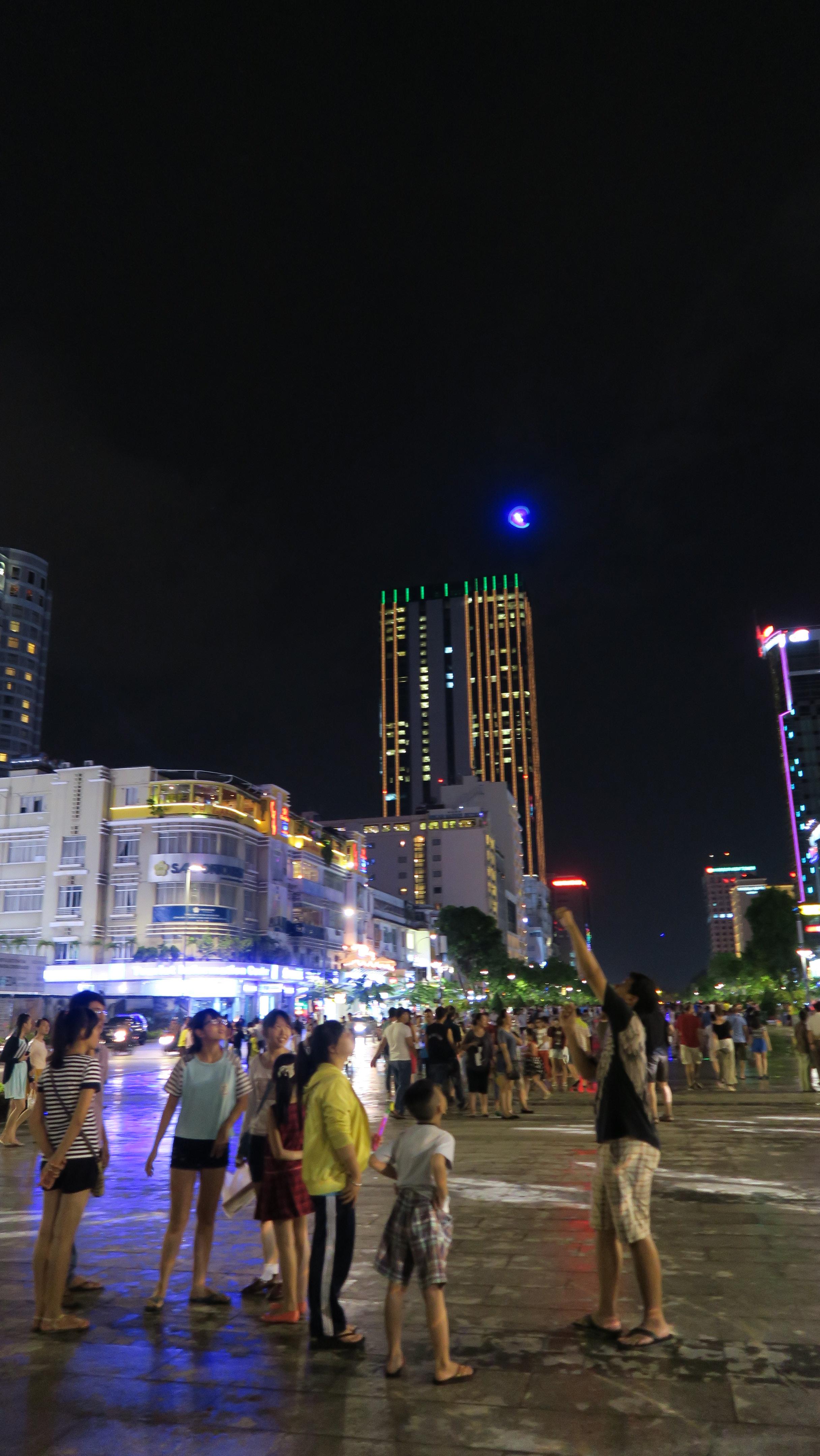 Nguyen Hue Pedestrian Street at night