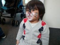 Athar sedang mengikuti salah satu acara yang diadakan di children centre