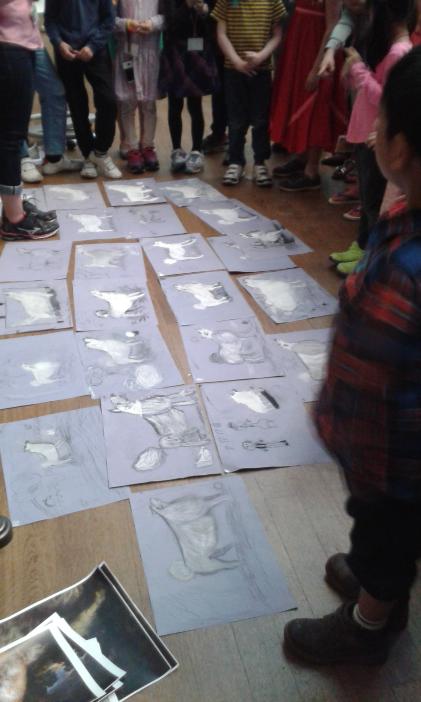 Hasil Menggambar Anak-anak di National Gallery